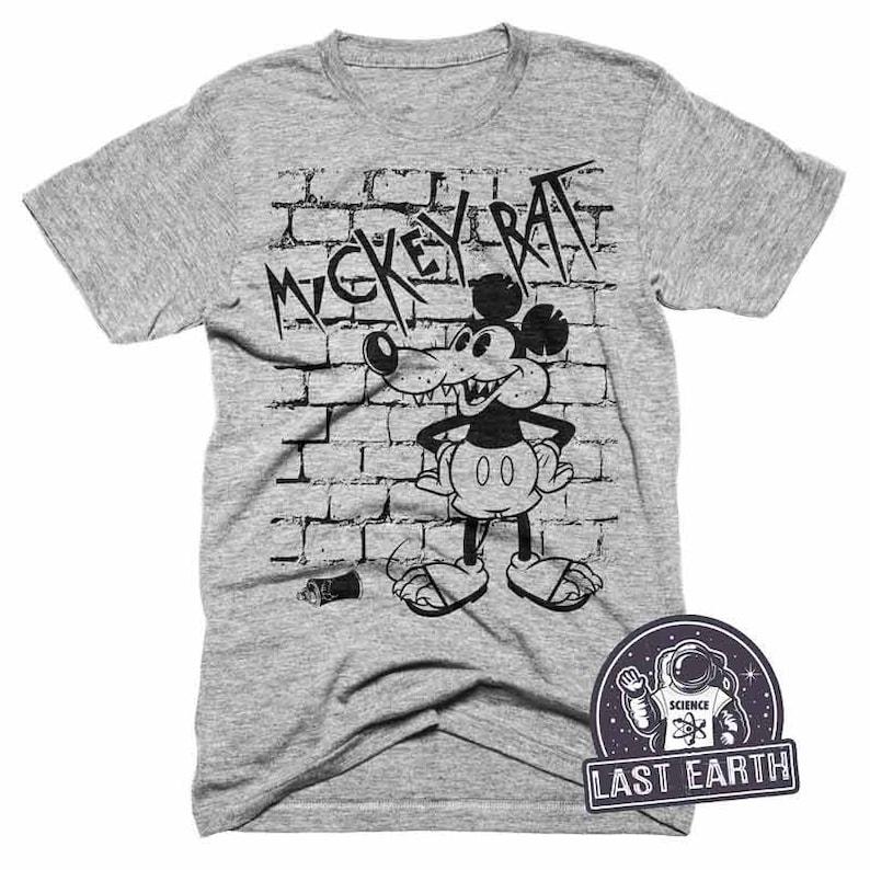 f180392d Mickey Rat Graffiti T-Shirt Funny Parody Tshirt Mickey Mouse | Etsy