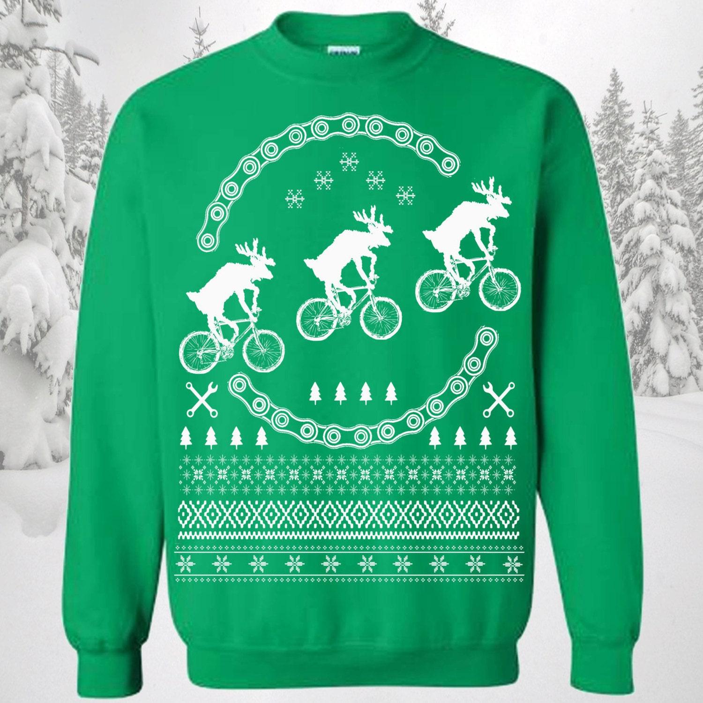 On Sale Bikes Ugly Christmas Sweater   Reindeers on Bikes  89837c1ae