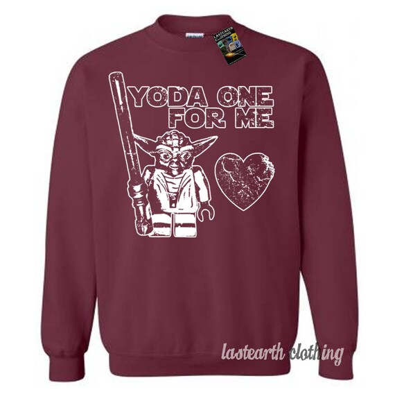 Yoda One For Me Valentines Day Sweater Funny Valentine Etsy