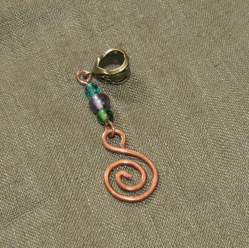 Dreadlock Bead Copper Spiral Bohemian Dreads Jewelry Jewellery Dangle Dread Beads Hammered Wire Wrap Tribal Hippie Hippy Festival Boho Hair