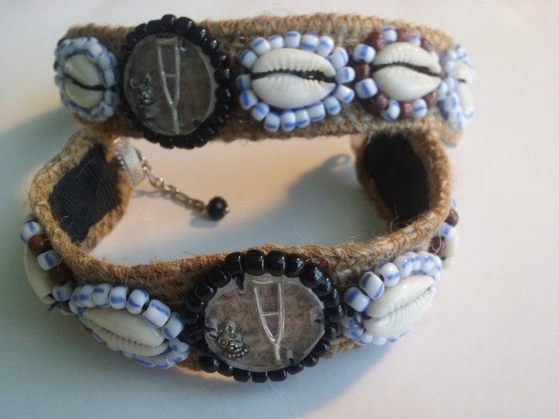 Santeria Yoruba  SAINT LAZARUS Jute bracelet ( CACHA) for Babalu Aye   asowuano  handmade