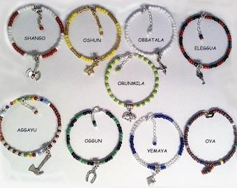 "Santeria Yoruba  Adjustable Bracelet  Idde' for  Orisha. Pulsera ""ilde"" para  Orishas"