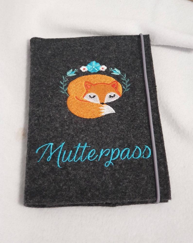 Mutterpasshülle  Mutterpass Fuchs  Innentasche  image 0