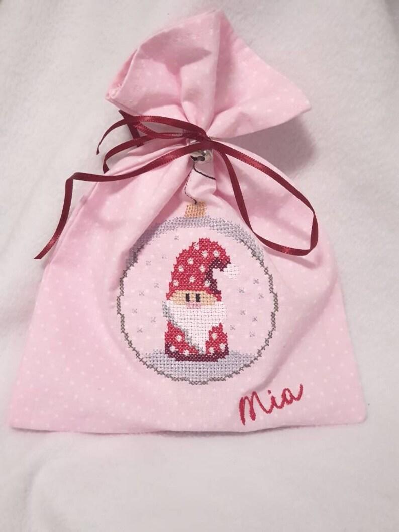 Weihnachtssäckchen mit Namen  mit Glöckchen  kleiner image 0