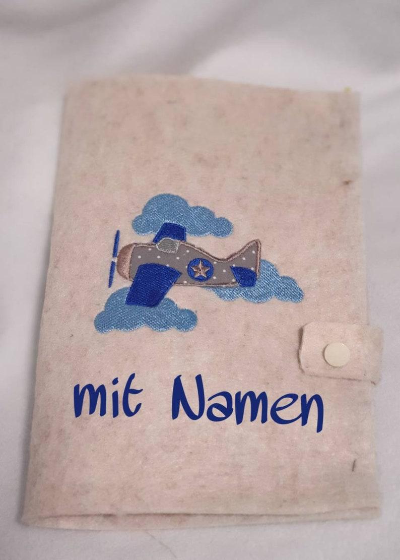U-Heft Hülle mit Namen Flugzug Umschlag UHeft Hülle UHeft image 0