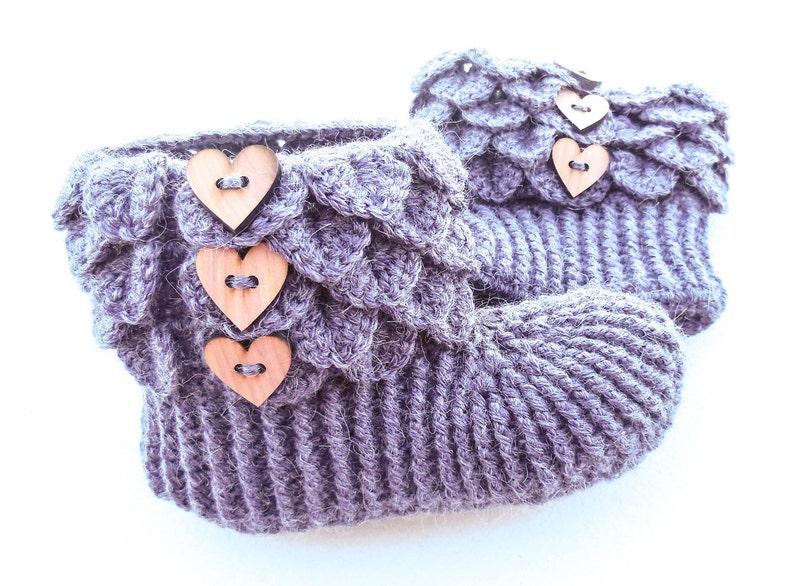 7435deabb27 Crochet Dragon Scale Slippers Adult Sizes Alpaca Crocodile