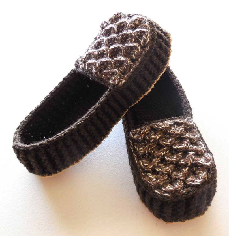 ecd23f5e09316 Crochet Dragon Scale Slippers - Men Adult Sizes - Crocodile Stitch Loafers  with Hemp Soles - Made to Order