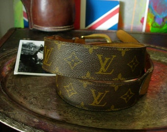 3d0e059a2a5f Beautiful Vintage Ultra RARE French Company Saks Fifth Ave LOUIS VUITTON  Monogram Unisex Belt Wardrobe Accessory Could be a Strap Size 32