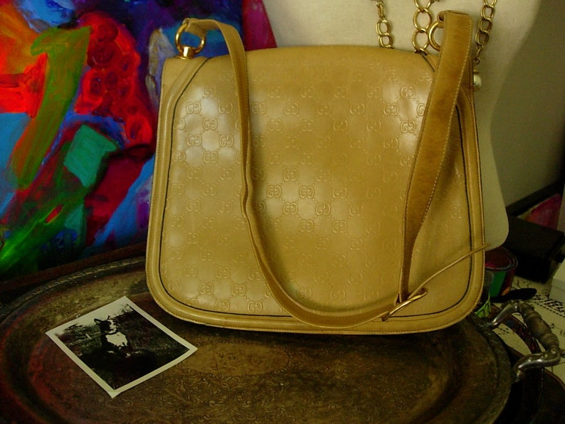 d1e7a3c7bea Ultra RARE Vintage GUCCI BLONDIE Embossed Full Leather