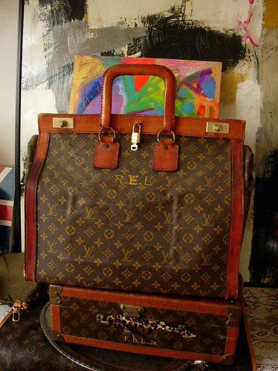 Ultra Rare Vintage Louis Vuitton 1950s French Steamer Sac Weekend Gm Luggage Tote Travel Accessory Carry On Bag Its Gorgeous