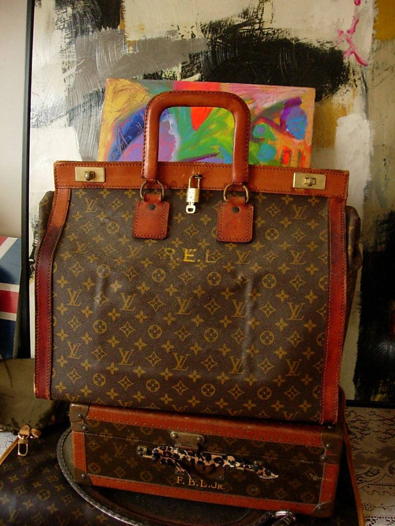 25218992fb88 Ultra Rare Vintage LOUIS VUITTON 1950 s French Steamer Sac