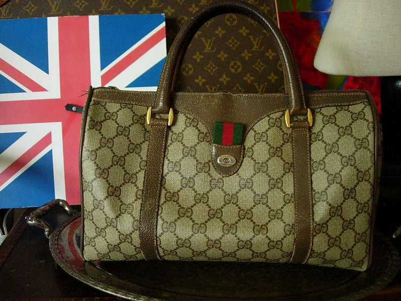 9d2733fa48d Pretty RARE Vintage GUCCI Speedy Purse Handbag Tote Bag