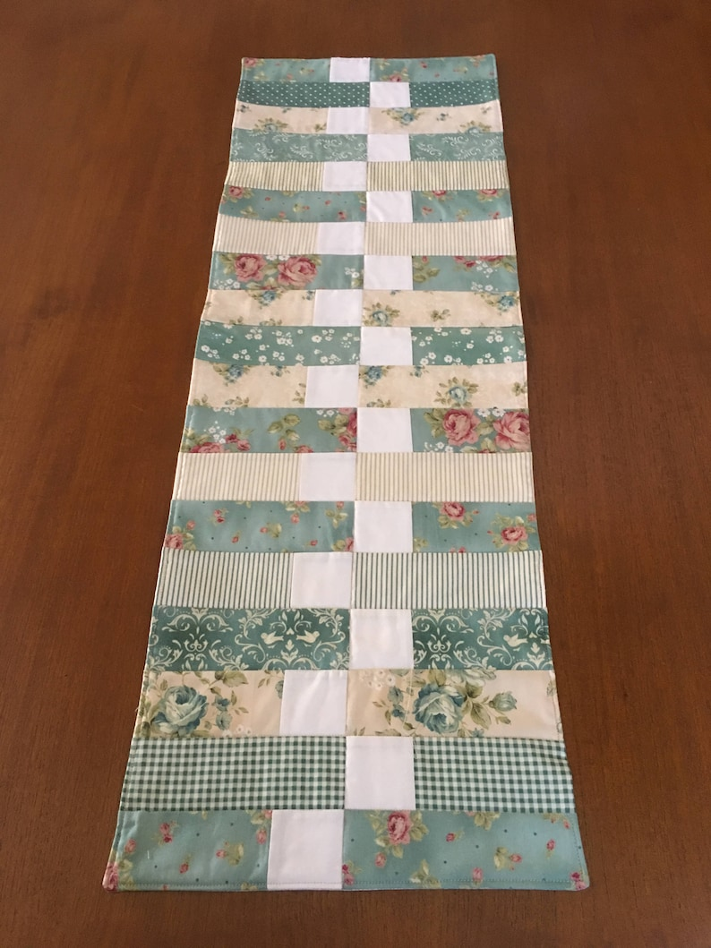Wondrous Shabby Cottage Chic Table Runner Welcome Home Maywood Studio Fabric Download Free Architecture Designs Remcamadebymaigaardcom