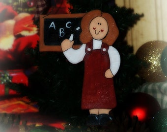 Personalized TEACHER ornament school Christmas gift NAME