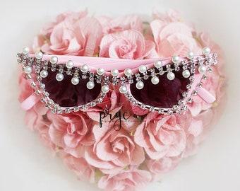 85ad89928610 Doll inspired sunglasses, soft pink small frame inspired sunglasses,  crystal sunglasses, cat eye sunglasses, retro sunglasses, trendy