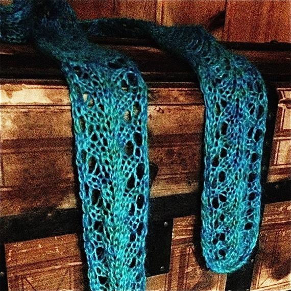 Vine Lace Scarf Knitting Pattern PDF | Beginning Lace Knitting ...