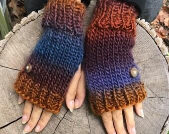 Ombre Fingerless Gloves