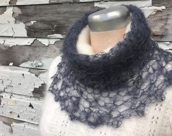 Silk Lace Cowl | Optional Fingerless Gloves