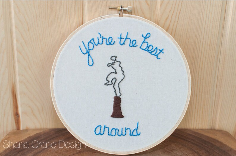 Best Around . Embroidery Hoop image 0