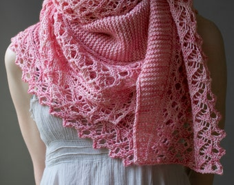 Lace Shawl Pattern Easy Lace Knitting Pattern Beginner Etsy