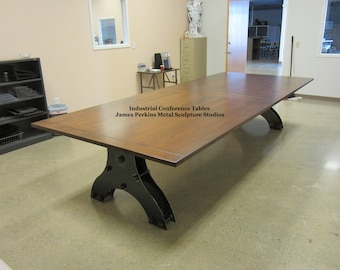 Conference Table Etsy - Modern industrial conference table