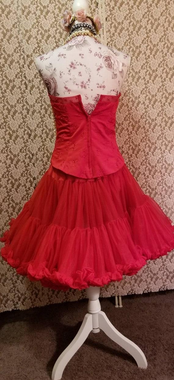 Bustier, Petticoat, Madonna Costume, Burlesque, 8… - image 9