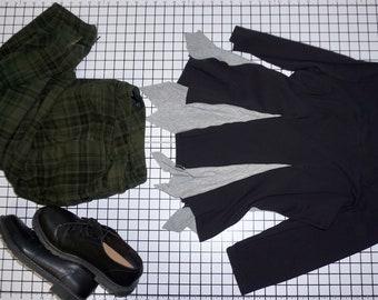 Altered Eco Check Mate Checkerboard Dress Plus Size 2x
