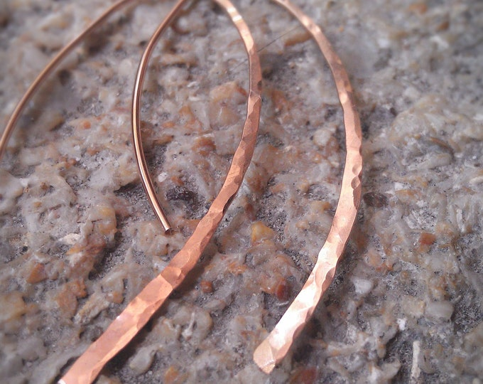 Rose Gold Wishbone Open Hoops