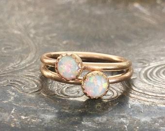 Genuine Opal Ring, 14k Gold, 14k gold filled, ONE ring