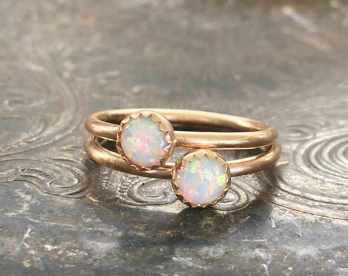 Genuine Opal Ring, 14k Gold, 14k gold filled, ONE ring