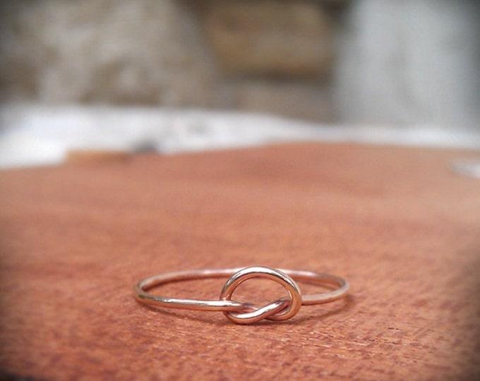Knot Ring in 14k Rose gold filled