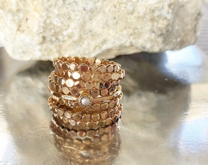 ONE 14k Gold Filled Beaded Ring
