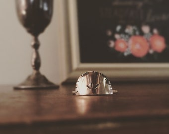 Arc of Thrace Ring, Handcrafted 14k gold filled solitaire ring