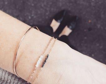 Raw diamond bracelet