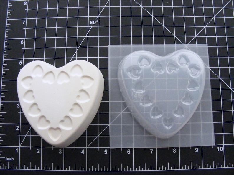 chocolate mold Heart lace pattern2 soap mold bathbomb mold plastic mold