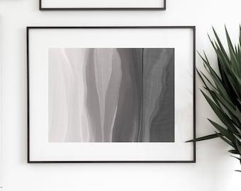 Gray Abstract Wall Art | Gray Abstract Print | Minimalist Wall Art Printable | Digital Download | Kayla Ellsworth