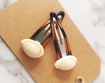 Pair of Cowrie Shell Hair Clips