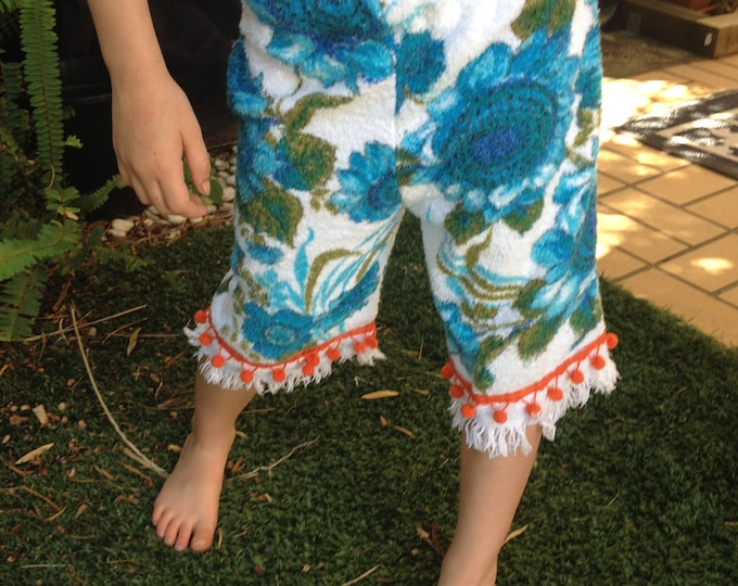Featured listing image: Upcycled Girls Funky Towelling Shorts