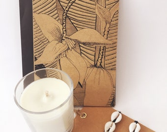 Gift Box with Banana Blossom Note Cards
