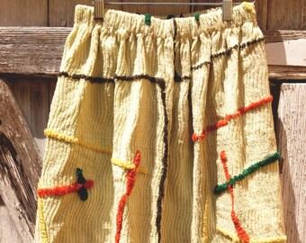 Upcycled Girls Funky Chenille Skirt