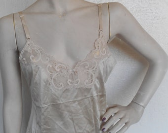 Vintage Camisole Beige Lace size 34 Maidenform Sweet Nothings