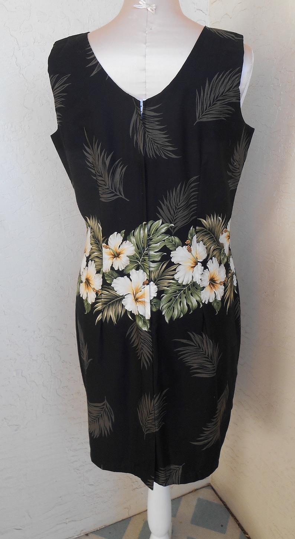 Aloha Dress Vintage Hawaiian KY/'S Shift Sun Dress Large