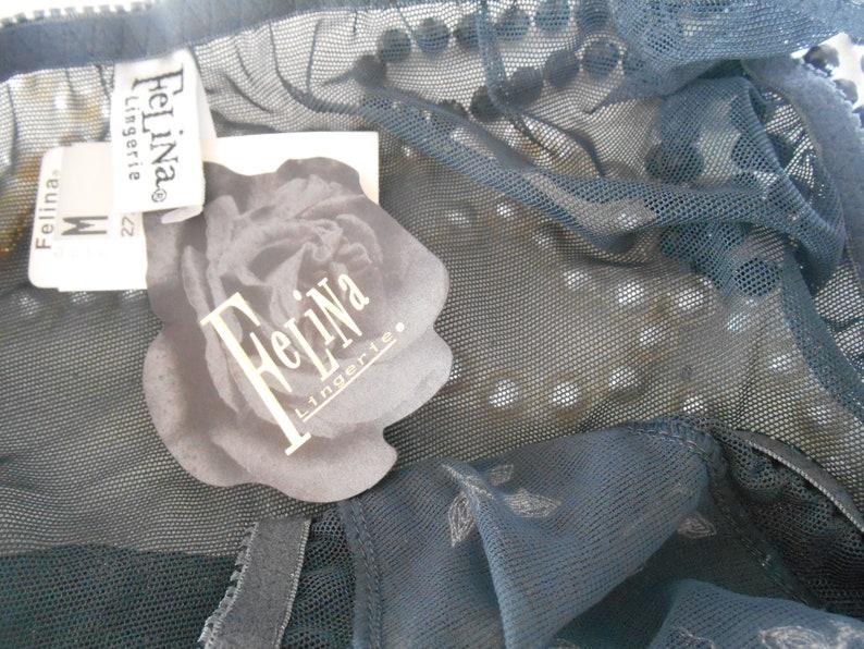 Sheer Black Panty Vintage Felina Bikini Panties Size Medium Sheer Nylon NOS