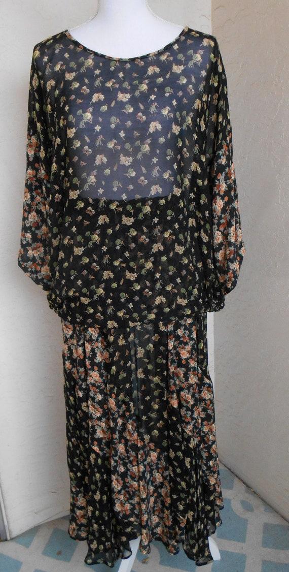 Laise Adzer  | Swirl Maxi Skirt Tunic Top Set Vint