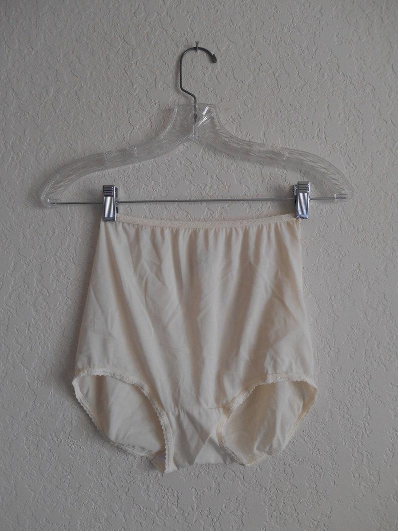 20923ba53431 Vintage Panties Panty Nylon Granny Bali Size L 7 White High   Etsy