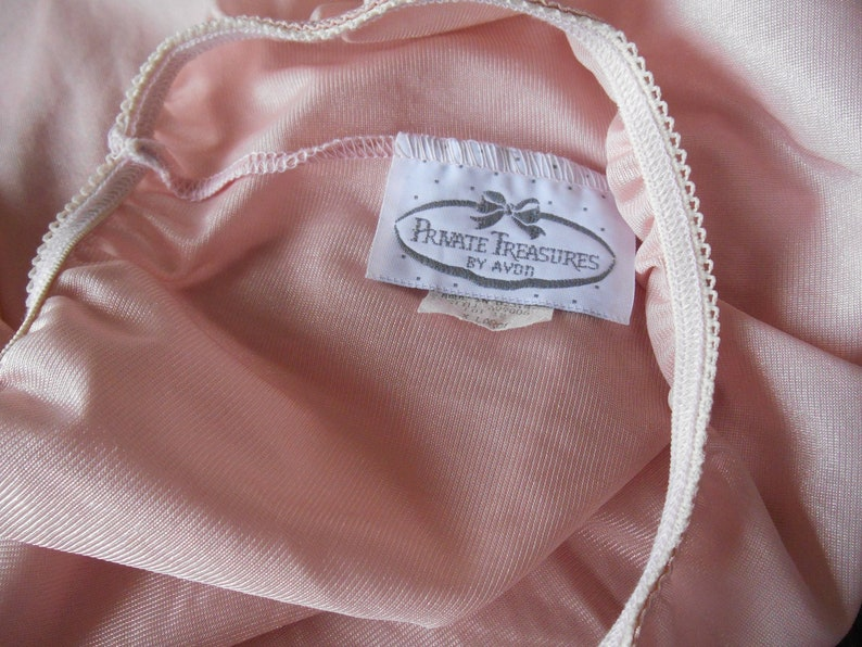 Vintage Half Slip Pink with Ivory Lace Private Treasures by Avon Extra Large