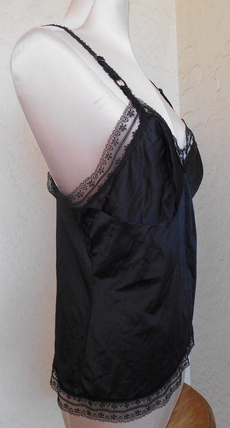 Jenelle of California Size 38 Half Slip Cami Black Camisole