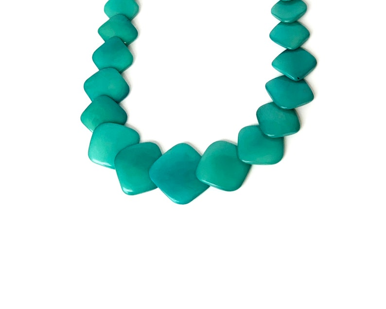 Jade Green Tagua Squares Necklace