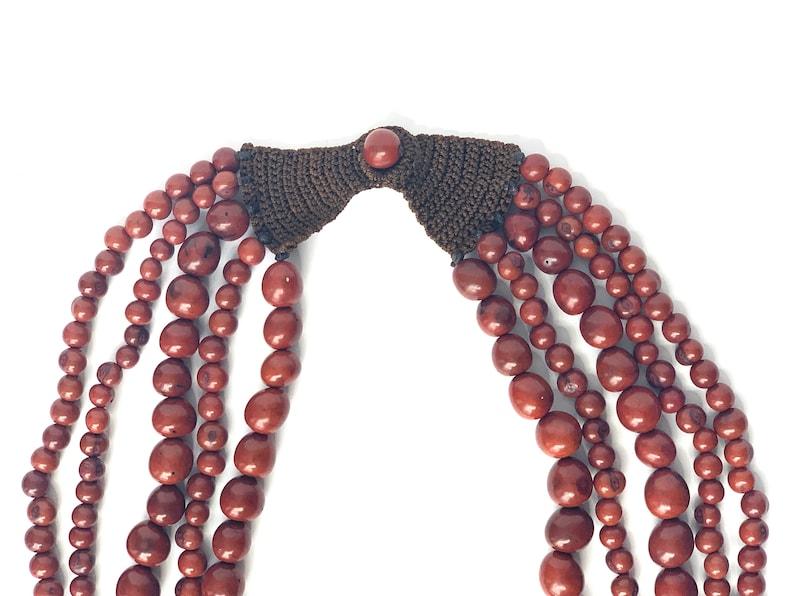 Mahogany 5 Strand Acai Berry Necklace