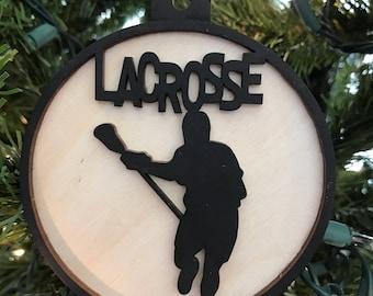Lacrosse Male Ornament, Car Charm, Rear view mirror charm